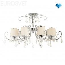 Хрустальная люстра Eurosvet 10021/8 хром/прозрачный хрусталь Strotskis Rosalva