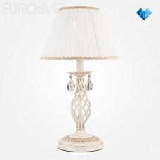 Настольная лампа Eurosvet 10054/1 белый с золотом/прозрачный хрусталь Strotskis Amelia