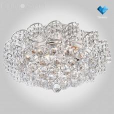 Хрустальная люстра Eurosvet 16017/9 белый с серебром Strotskis Charm