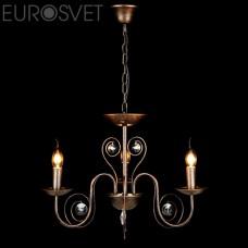 Подвесная люстра Eurosvet 60018/3 черный с золотом Tomas