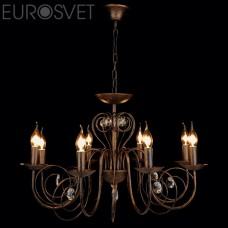 Подвесная люстра Eurosvet 60018/8 черный с золотом Tomas