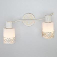 Настенный светильник 20025/2 белый с золотом/ хром