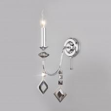 Настенный светильник с хрусталем 10120/1 хром