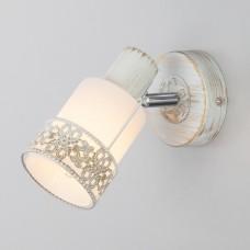 Настенный светильник 20025/1 белый с золотом/ хром