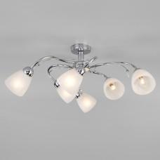 Потолочный светильник со стеклянными плафонами 30169/6 хром