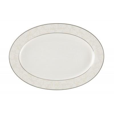 Блюдо овальное Royal Aurel 905 Пион белый
