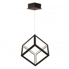 Подвесной светодиодный светильник Favourite 2052-1P Cubus черный LED*35W, 4000K