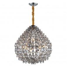 Подвесная люстра с хрусталем Favourite 2093-10P Faberge хром 10*E14*40W