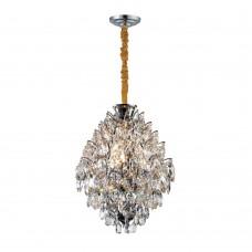 Подвесная люстра с хрусталем Favourite 2093-4P Faberge хром 4*E14*40W