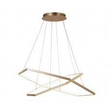 Подвесная светодиодная люстра Favourite 2103-14P Hexagon золото 1*LED*40W + 1*LED*56W, 3000K
