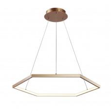 Подвесная светодиодная люстра Favourite 2103-6P Hexagon золото 1*LED*40W, 3000K