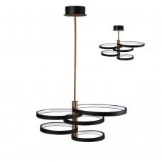 Подвесная светодиодная люстра Favourite 2116-5P Umlauf черный LED*76W, 3000K