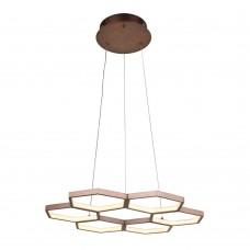Подвесная светодиодная люстра Favourite 2221-7P Cancellos коричневый LED*42W, 4000K