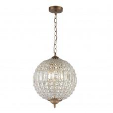 Подвесная люстра с хрусталем Favourite 2296-3P Orientalium бронза 3*E14*40W