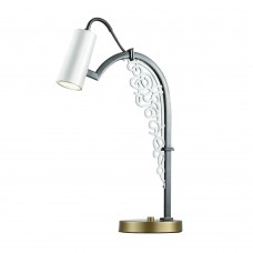 Настольная лампа Favourite 2301-1T Fabia жемчужно-белый 1*GU10LED*5W, included