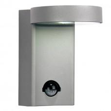 Уличный настенный светодиодный светильник с датчиком движения Favourite 1827-1W Flicker хром 10 Вт 4000К