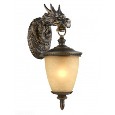 Уличный настенный светильник Favourite 1716-1W Dragon коричневый