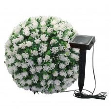 """Декоративный уличный светильник Feron E5209 """"Цветочный шар"""" белый 20 LED D280мм (арт. 06266)"""