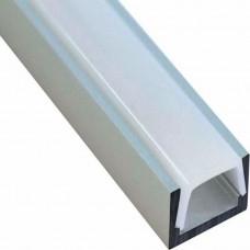 """Профиль для светодиодной ленты Feron CAB262 """"накладной"""" низкий серебро 10267"""