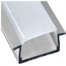 """Профиль для светодиодной ленты Feron CAB252 """"встраиваемый"""" широкий серебро 10293"""