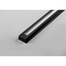 Шинопровод для трековых светильников, черный, 3м, в наборе 2 заглушки, крепление, CAB1000 (арт. 10335)