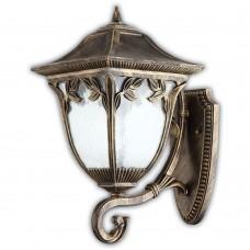 Уличный настенный светильник Feron Афина PL4081 100W 230V E27 320*230*470мм черное золото 11489