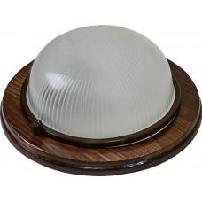 Накладной светильник Feron НБО 03-60-021 220V 60Вт Е27 IP54 дерево орех круг (арт. 11573)