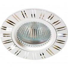 Встраиваемый светильник Feron GS-M393S MR16 50W G5.3 серебро 17939
