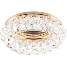 Точечный светильник Feron CD4141 MR16 50W G5.3 прозрачный, золото (арт. 19287)