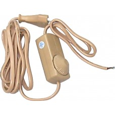 Сетевой шнур Feron DM103-200W 230V 1,5+0,5м (с диммером) золото