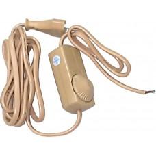 Сетевой шнур Feron DM103-200W 230V 1,5+0,5м (с диммером) прозрачный