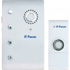 Беспроводной звонок Feron E-367 (DB607) (кнопка IP44) 35 мелодий, 2*1,5V/АА, 315МНz