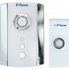 Беспроводной звонок Feron E-369 (DB609) (кнопка IP44) 35 мелодий, 2*1,5V/ААА, 315МНz