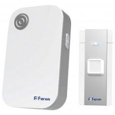 Звонок беспроводной Feron E-372 36 мелодий белый серый (арт. 23685)