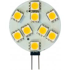 Лампа светодиодная Feron LB-16 9LED(2W) 12V G4 4000K, 37*27mm (для мебельных светильников)