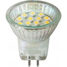 Лампа светодиодная Feron LB-27 14LED(1W) 230V G5.3 3300K 30*29mm MR11