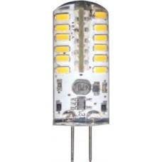 Лампа светодиодная Feron LB-422 48LED(3W) 12V G4 2700K капсула силикон 11x38mm