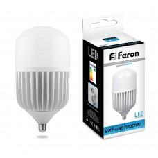 Промышленная светодиодная лампа Feron LB-65 100 Вт 230V E27-E40 6400K (арт. 25827)