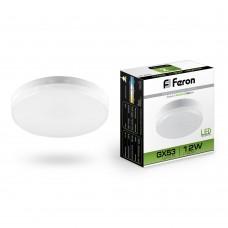 Лампа светодиодная Feron LB-453 12W 230V GX53 4000K, для натяжных потолков (арт. 25835)