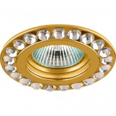 Точечный светильник Feron DL112-C MR16 50W G5.3 прозрачный, золото (арт. 28405)