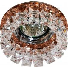 Встраиваемый светильник Feron CD2929 MR16 max50W 12V G5.3 прозрачный коричневый (арт. 28418)