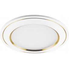 Встраиваемый светодиодный светильник Feron AL650 7W 560Лм 4000К белый с золотом (арт. 28930)