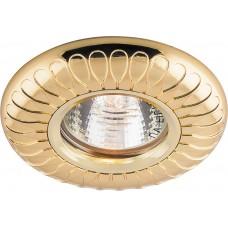 Встраиваемый светильник Feron DL6047 MR16 50W G5.3 золото (арт. 28959)