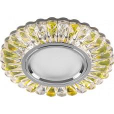 Встраиваемый светильник с LED подсветкой Feron CD902 MR16 50W G5.3 прозрачный-желтый, хром (арт. 28972)
