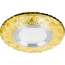 Встраиваемый светильник с LED подсветкой Feron CD907 MR16 50W G5.3 желтый, хром (арт. 28978)