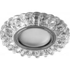 Встраиваемый светильник с LED подсветкой Feron CD916 MR16 50W G5.3 прозрачный, хром (арт. 28988)