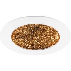 Встраиваемый светодиодный светильник Feron AL9070 12W 480Lm 4000K белый с золотом (арт. 29548)
