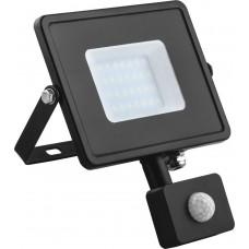 Прожектор с датчиком движения Feron LL-908 50W 6400K 230V черный IP44 198*213*55мм (арт. 29558)