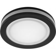 Встраиваемый светодиодный светильник Feron AL600 встраиваемый ф80мм 7W 560 Lm 4000К черный (арт. 29569)