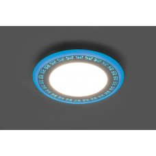 Встраиваемый светильник с синей LED подсветкой Feron AL2440 6W 480Lm 4000К (арт. 29592)